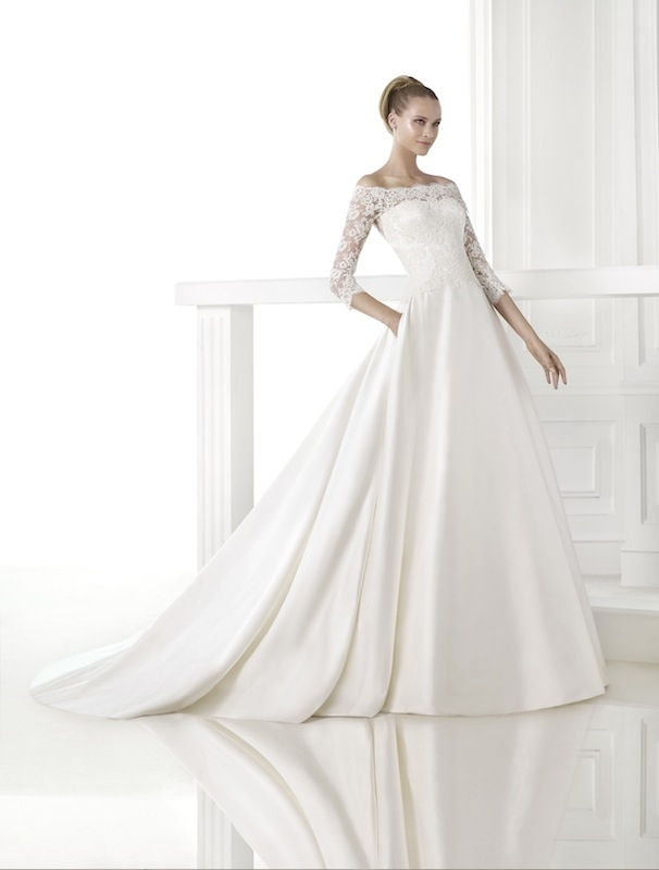"Pronovias' ""Celandia."" Available in Charleston through Gown Boutique of Charleston."