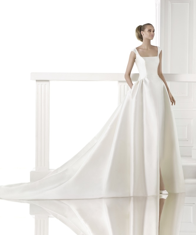 "Pronovias' ""Celene."" Available in Charleston through Gown Boutique of Charleston."