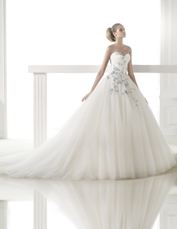 "Pronovias' ""Cerelia."" Available in Charleston through Gown Boutique of Charleston."