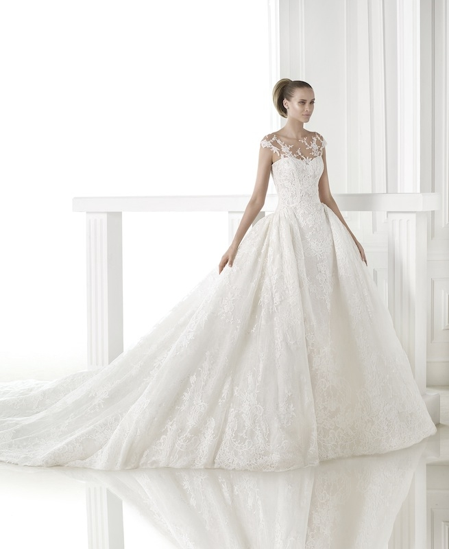 "Pronovias' ""Cesira."" Available in Charleston through Gown Boutique of Charleston."