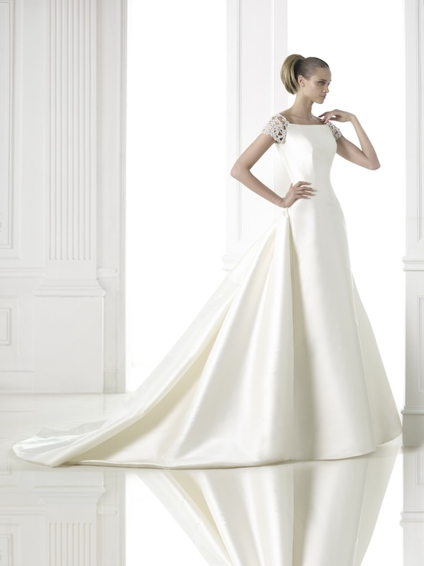 "Pronovias' ""Chalicce."" Available in Charleston through Gown Boutique of Charleston."