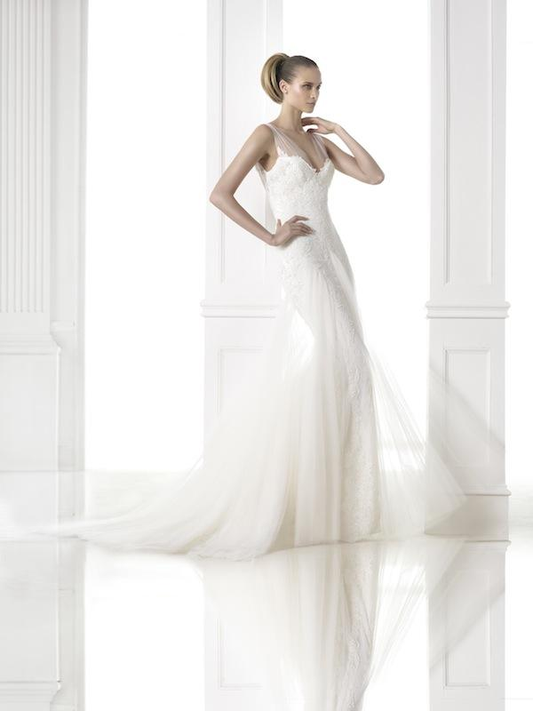 "Pronovias' ""Charlene."" Available in Charleston through Gown Boutique of Charleston."
