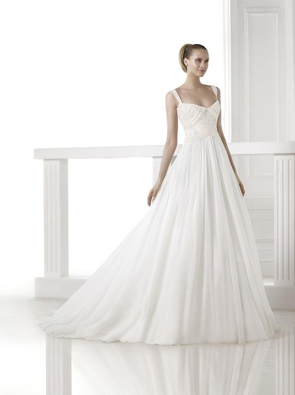 "Pronovias' ""Cibeles."" Available in Charleston through Gown Boutique of Charleston."