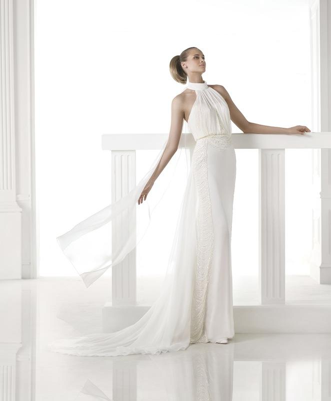 "Pronovias' ""Ciclamen."" Available in Charleston through Gown Boutique of Charleston."