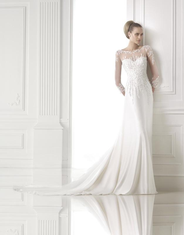 "Pronovias' ""Cirenia."" Available in Charleston through Gown Boutique of Charleston."