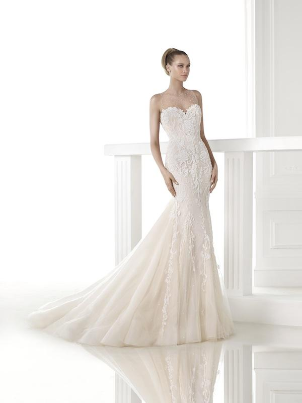 "Pronovias' ""Clarisa."" Available in Charleston through Gown Boutique of Charleston."
