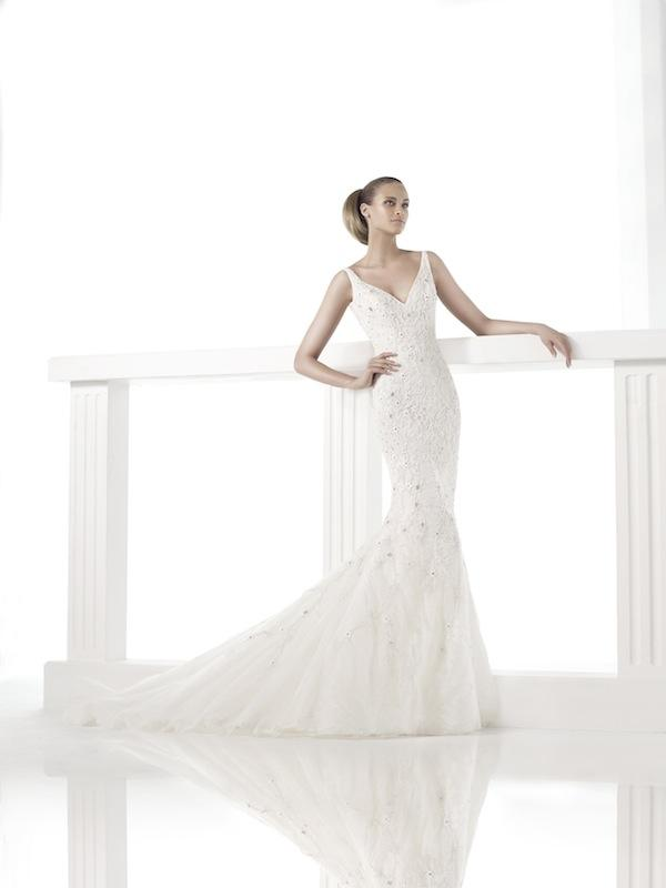 "Pronovias' ""Claudiane."" Available in Charleston through Gown Boutique of Charleston."