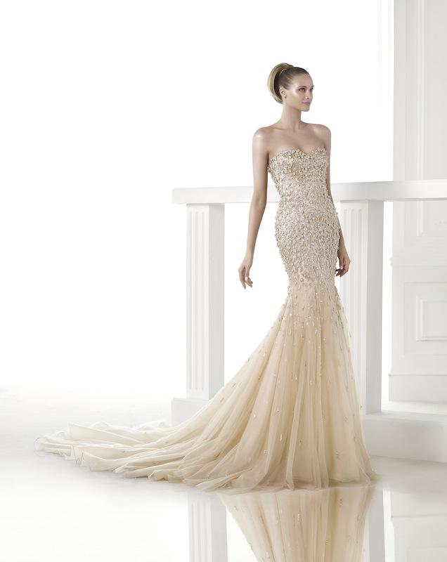"Pronovias' ""Clody."" Available in Charleston through Gown Boutique of Charleston."