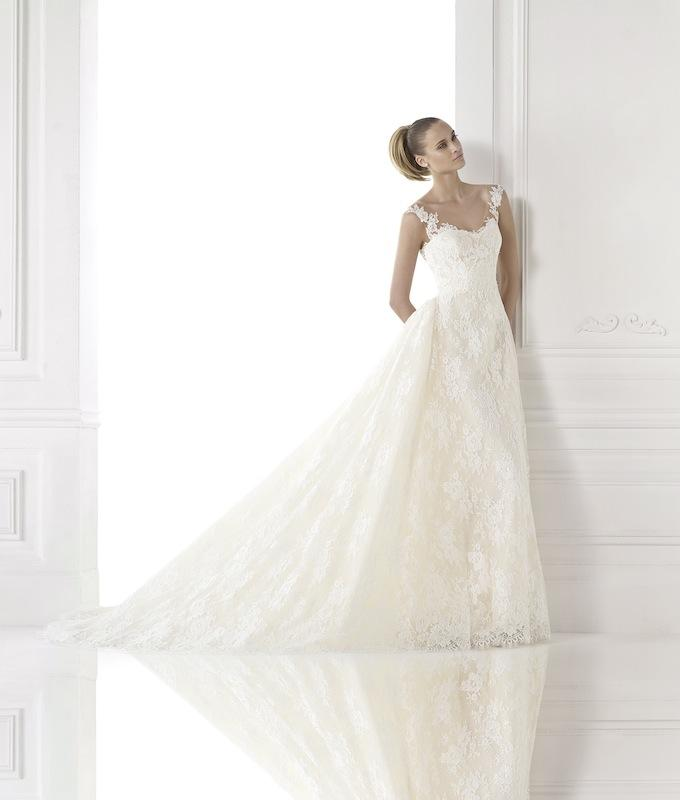 "Pronovias' ""Constance."" Available in Charleston through Gown Boutique of Charleston."
