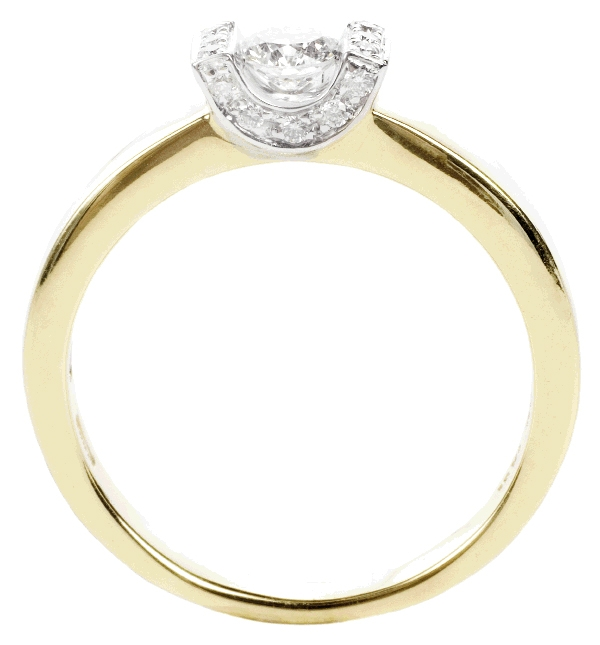 ROCK THE CRADLE: 18K yellow gold ring with .23 ct. center diamond and accent diamonds (.04 total ct.) Roberto Coin, $2,760