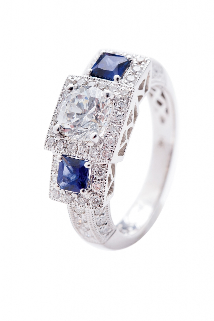 sapphire and diamond ring from Kiawah Fine Jewelry