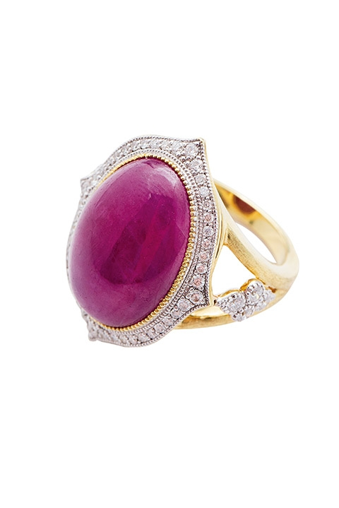 Jude Frances' ruby and diamond ring from Croghan's Jewel Box
