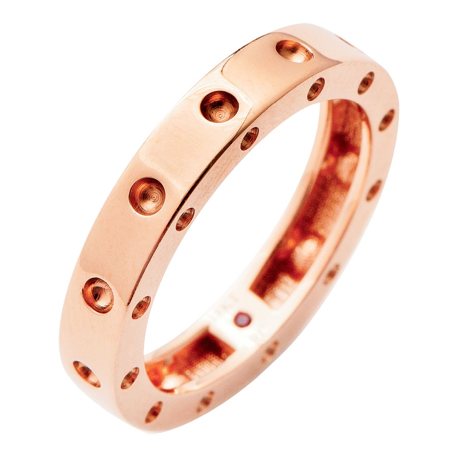 Pois Moi Collection by Roberto Coin's 18K rose gold band from Roberto Coin ($980)