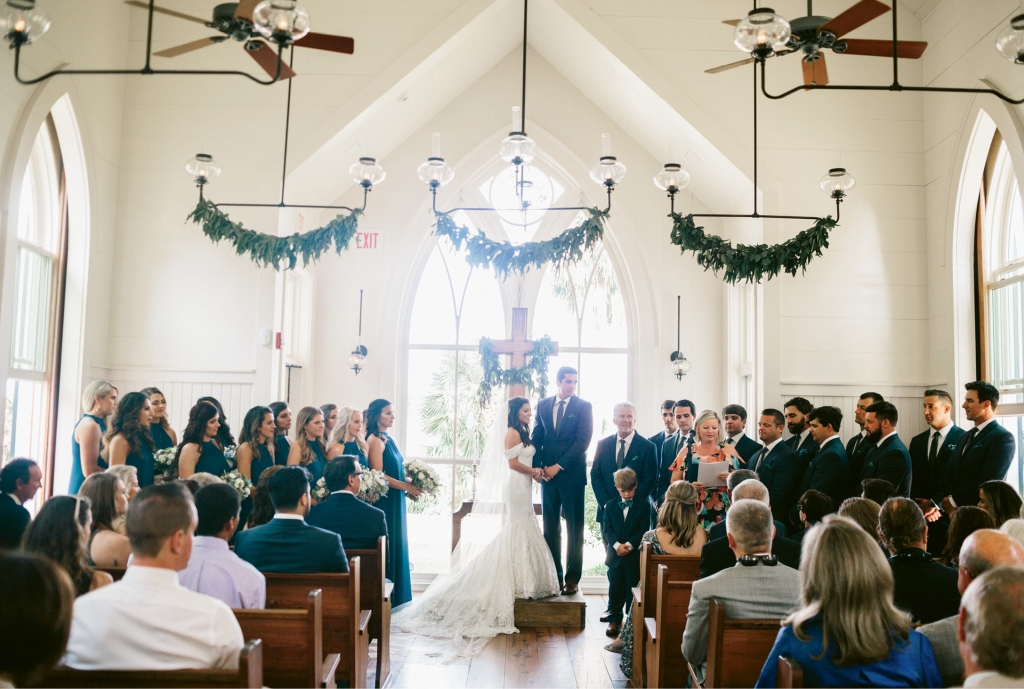 """The Waterside Chapel at Palmetto Bluff is the most charming venue we have ever seen,"" says Carla. ""It really sold us on the location."""