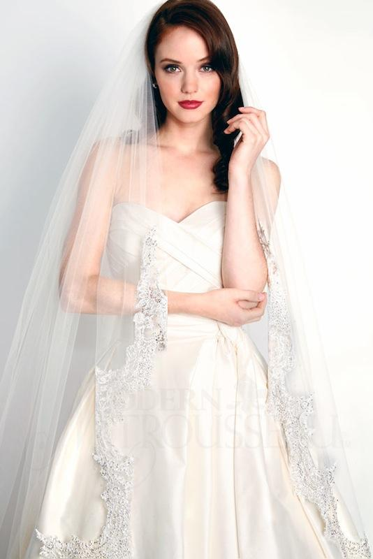 "Modern Trousseau's ""Catalina"" veil. Available in Charleston through Modern Trousseau."
