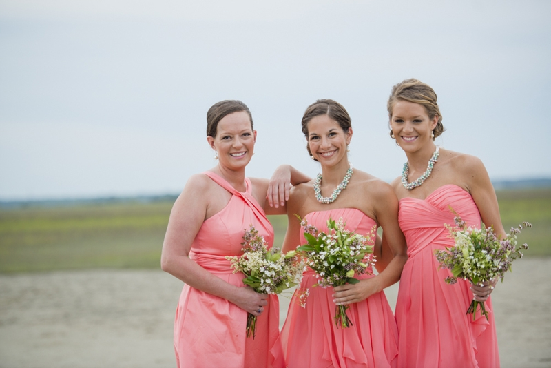 Bridesmaid attire from David's Bridal. Florals by FloriCHS by Nathalie Rumph. Image by Reese Allen Photography.