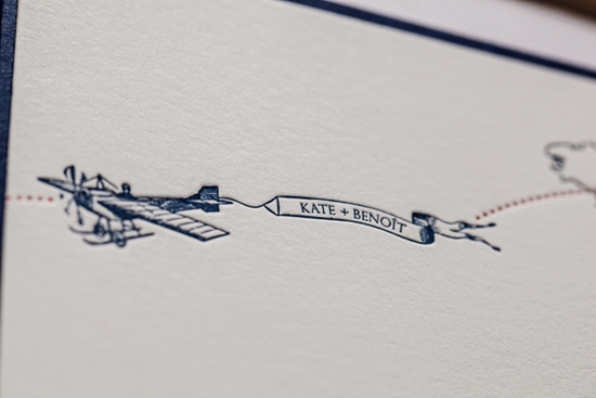 BEYOND THE SEA: The letterpress stationery suite featured an homage to both Paris and Charleston.