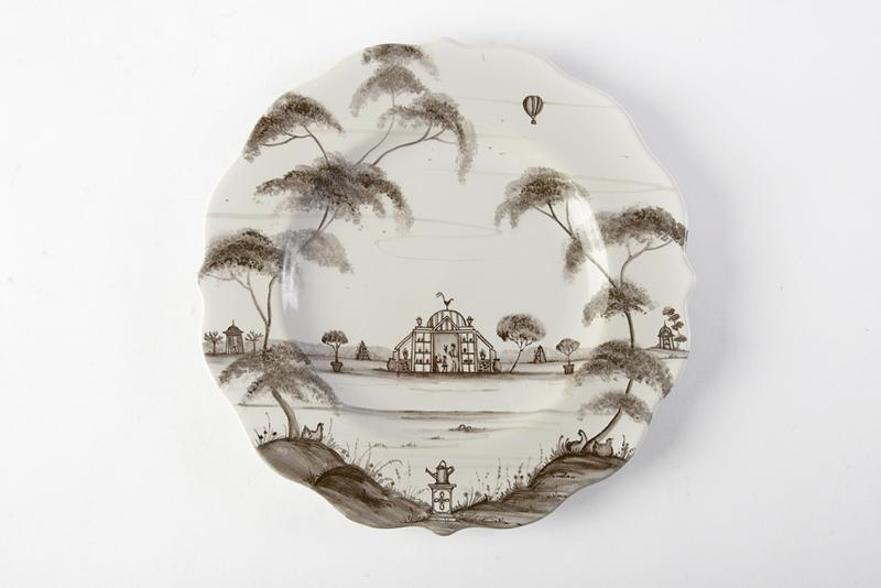 "Juliska's ""Country Estate"" Dessert Plate in Flint. This scalloped plate inspires an afternoon of swinging on the front porch, enjoying peach cobbler in the sweet South. GDC Home, $39 (9-inch plate)"