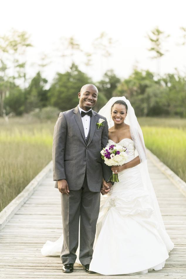 CLASSIC BEAUTY: Erica wore Victor Harper while Nathan donned a tux from Charleston Tuxedo.