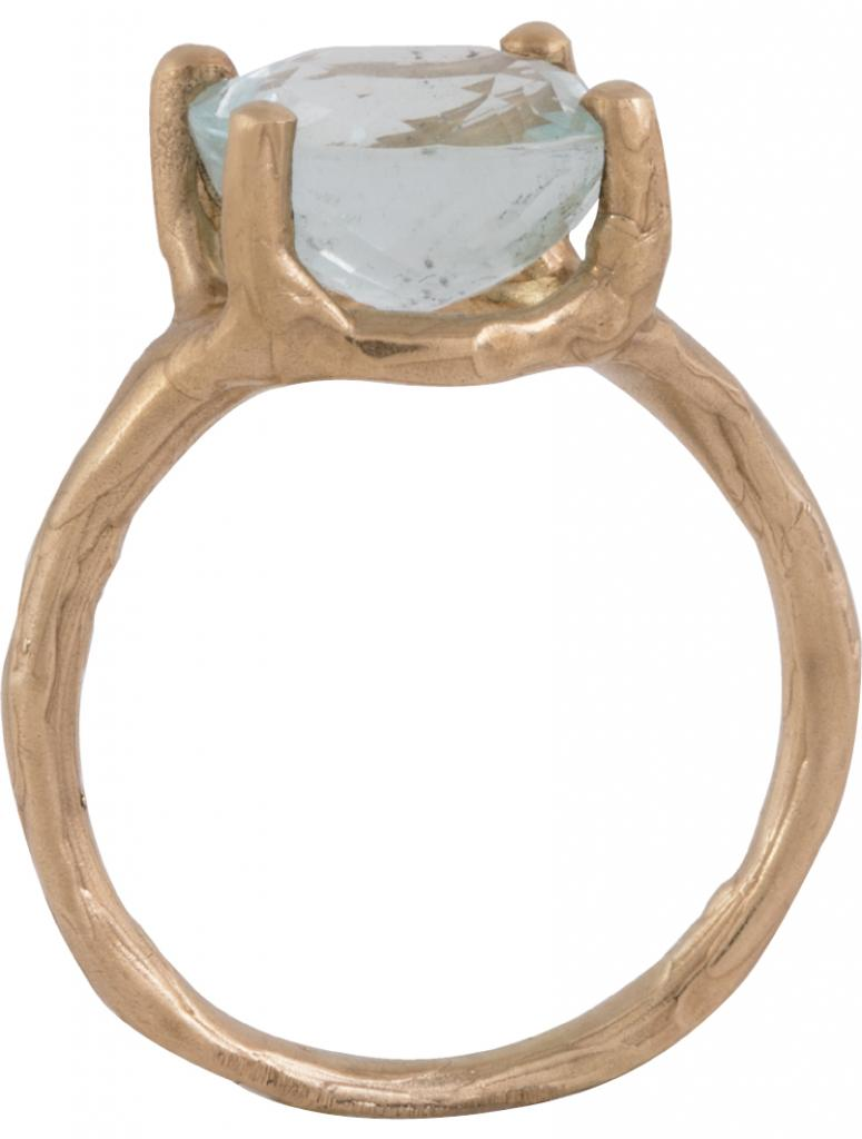 14K gold and aquamarine ring from Christina Jervey ($1,650)