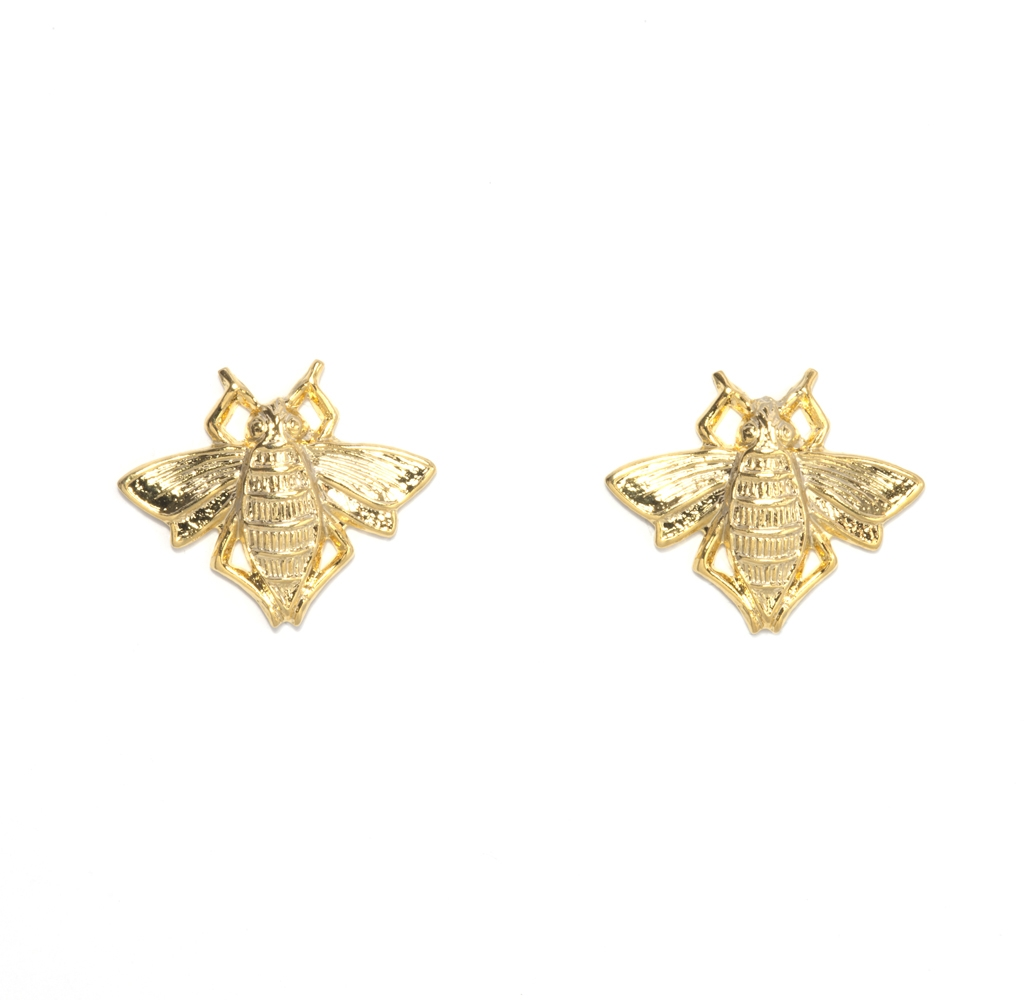 Stud bee earrings ($60)