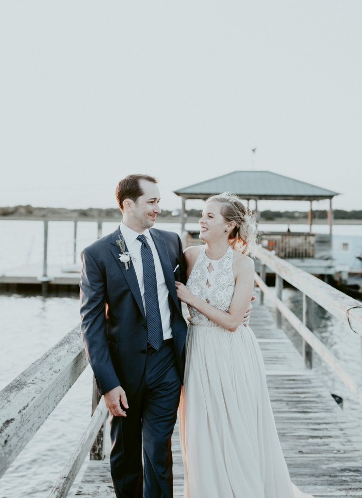The couple, who met at the College of Charleston School of Law, picked the Isle of Palms Exchange Club partly because it sits on the water near Breach Inlet.