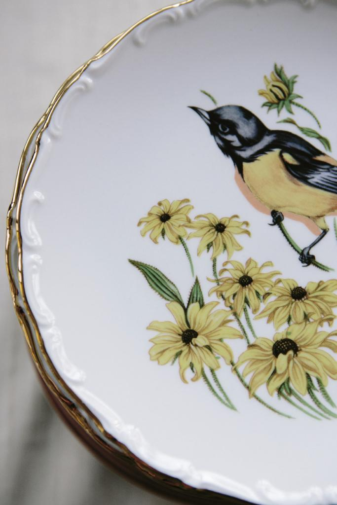 DISH DUTY: Sarah scoured auctions and flea markets for vintage china plates to display the cakes and serve dinner.