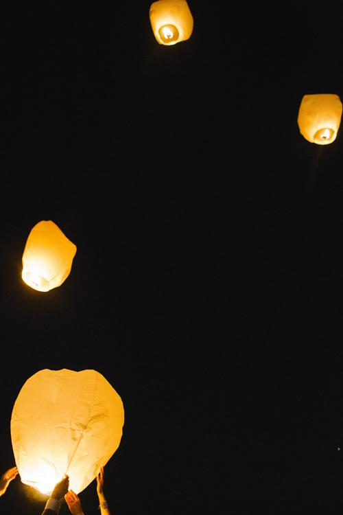 WELL WISHES: Chinese lanterns are traditionally let off during Chinese New Year celebrations and symbolize new beginnings—making them perfect for a wedding, too