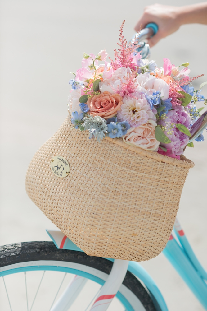 Bike owned by bride. Bouquet by Country and Lace Florist. Image by Leigh Webber Photography.