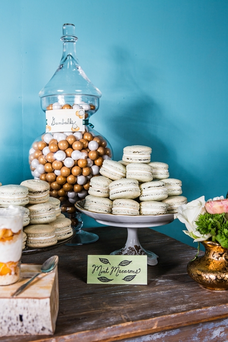 MINTY FRESH: Macaroons are among the easiest of treats to color, so keep them in mind when you want to create a spread that reflects a particular color scheme.