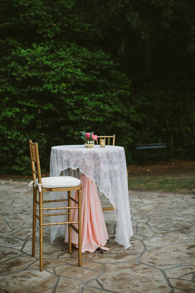 Chairs from Snyder Events. Table and linens from EventHause. Photograph by Juliet Elizabeth.