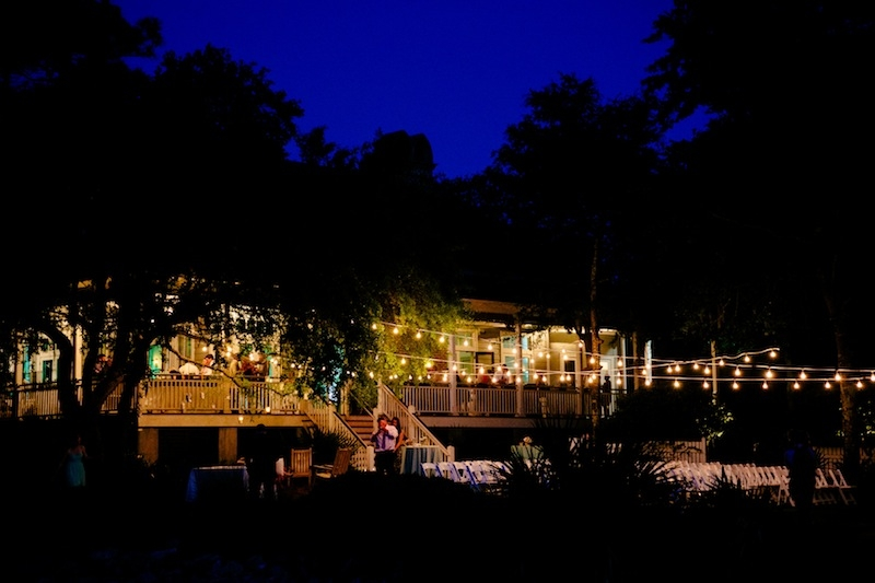 Lighting by Innovative Event Services. Image by Dana Cubbage Weddings at Creek Club at I'On.