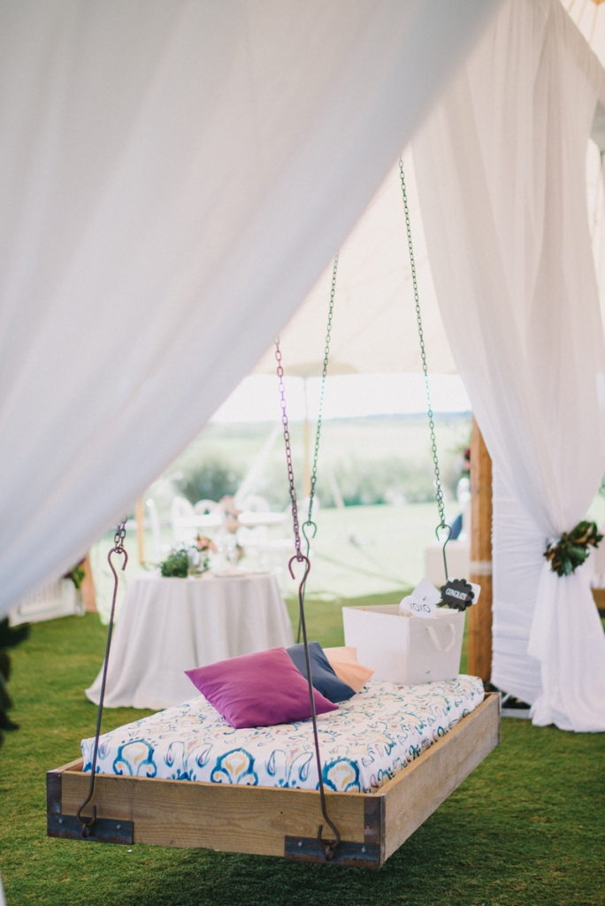 Bed swing from Ooh! Events. Photograph by Sean Money & Elizabeth Fay.