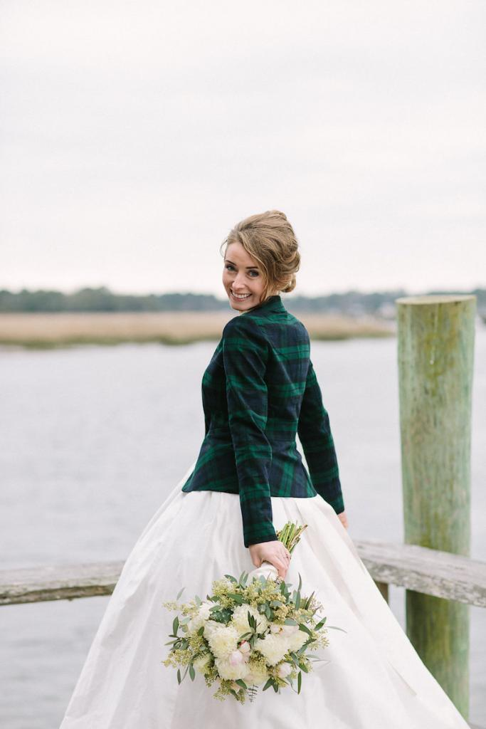 Bride's gown by Tara Keely. Florals by Lauren Luecke. Hair by Krystal Yangco. Image by Julia Wade Photography at Boone Hall Plantation.