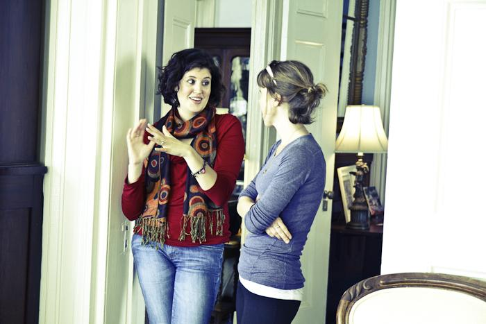 Palmer Home manager Meredith Hutchins; editor Melissa Bigner