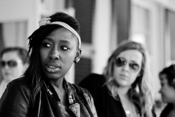 Style director Ayoka Lucas; style intern Loren Springsteen