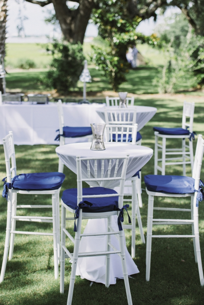 AL FRESCO: Cocktail tables and chairs were placed throughout the grounds so guests could enjoy the outdoors.