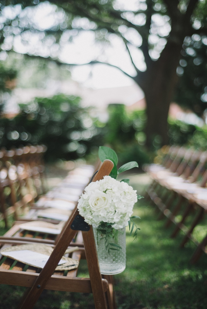 Florals by Tiger Lily Weddings. Rentals by Event DRS. Wedding design and coordination by Lindsey Shanks of A Charleston Bride. Photograph by Sean Money + Elizabeth Fay at Lowndes Grove Plantation.
