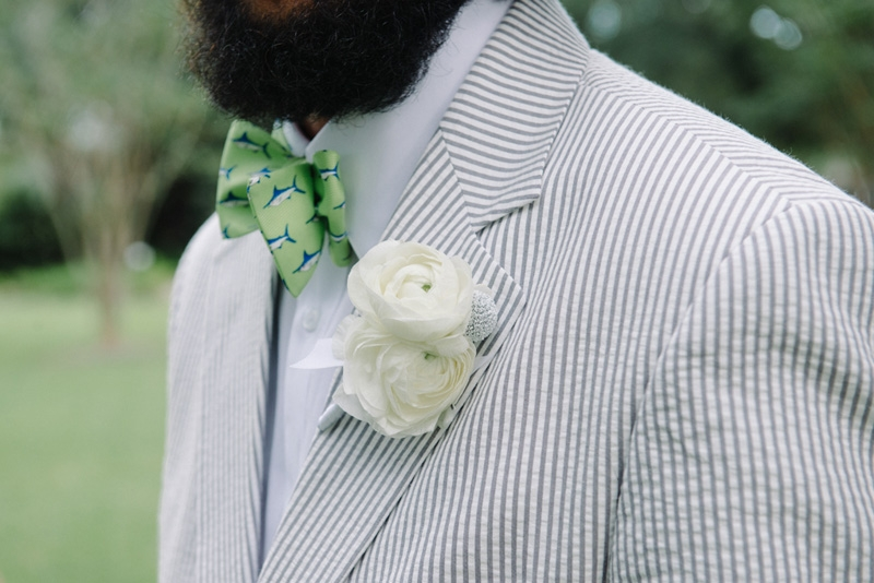 Groomsmen's suits by Hardwicks. Bow ties by Southern Proper and Bird Dog Bay. Photograph by Sean Money + Elizabeth Fay at Lowndes Grove Plantation.