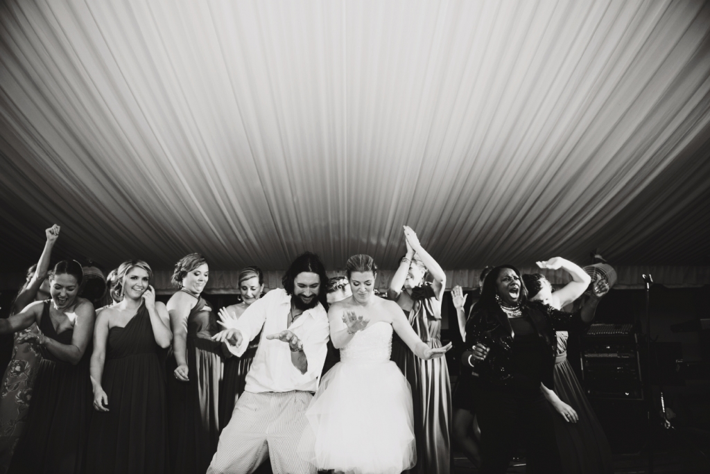 "BOOGIE NIGHTS: ""When it came to the reception, we wanted everyone to enjoy themselves...and party!"" says Julie."