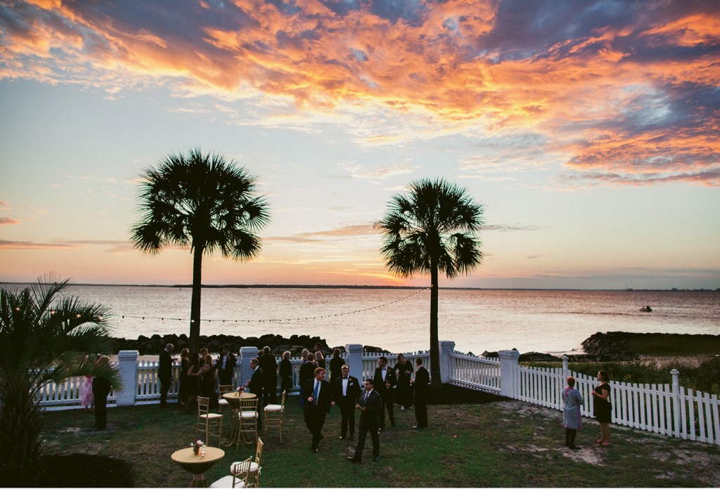 Before guests feasted on supper, the Sullivan's Island sunset was a feast for the eyes. (Image by Juliet Elizabeth Photography)