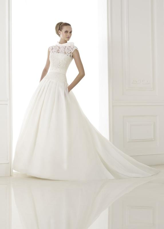 "Pronovias' ""Kaethe."" Available in Charleston through Gown Boutique of Charleston."