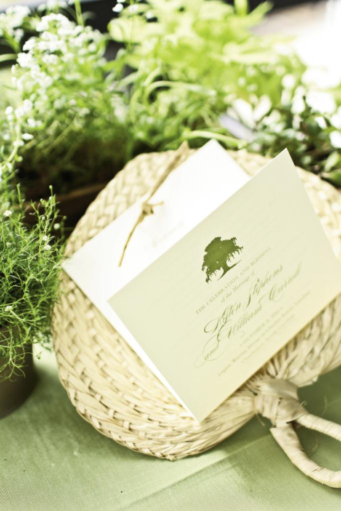 DETAILS COUNT: To add Lowcountry flair, Hannah Alexander of WED tied programs to palm frond fans.