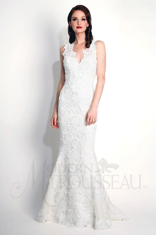 "Modern Trousseau's ""Kasey."" Available in Charleston through Modern Trousseau."