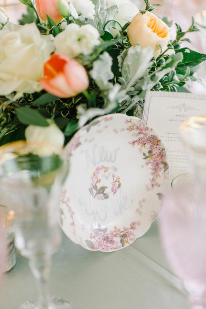 Photograph by Sean Money + Elizabeth Fay. Florals by A Charleston Bride. Tableware by Polished!.