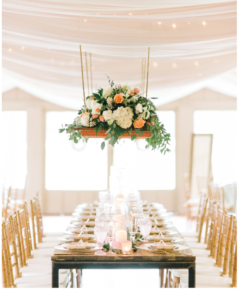 Photograph by Sean Money + Elizabeth Fay at Middleton Place. Design, draping, and florals by A Charleston Bride. Rentals by Snyder Event Rentals. Tableware by Polished!.
