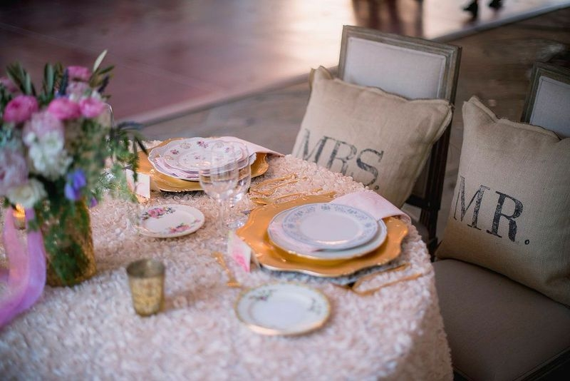 Wedding design by Sweetgrass Social Event + Design. Linens by La Tavola. China from Heirloom Vintage China Hire. Image by Timwill Photography.
