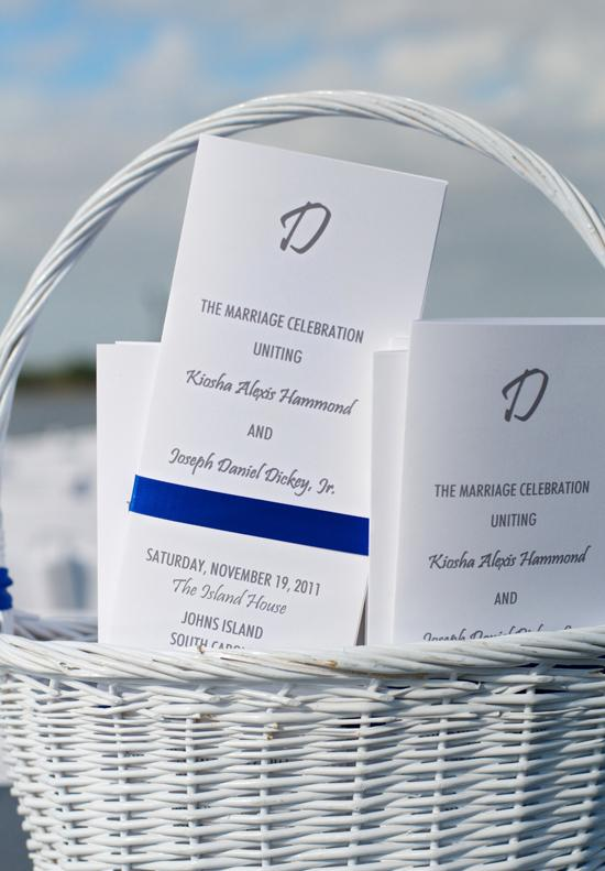 HELLO THERE: Guests were greeted with ceremony programs printed by Studio R.