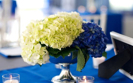 SMELL SOFTLY: The couple took guests' (and Joseph's!) allergies into consideration and chose scentless or nearly scentless blooms.