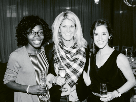 Jacin Fitzgerald (center) with attendees